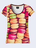Женсая футболка Французские макаруны