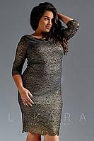 Платье из гипюра батал вечернее, фото 1