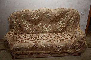 Дивандеки СУПЕР на великий диван і два крісла Вензель великий пісочний, фото 2