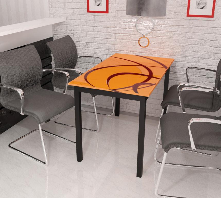 7dbbdb7d3 Стеклянный стол Монарх Мегаполис оранж 110*65 см Сентензо - МАГАЗИН АРТИ  мебель в Мелитополе