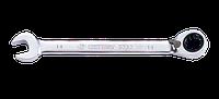 Ключ комбинированный 17мм с  трещоткой и флашком King-Tony 373217M