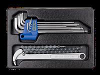 Набор инструмента (съемник масл. фильтра цепн.,набор шестигр. 1,5-10 мм) King-Tony 9-20110MR