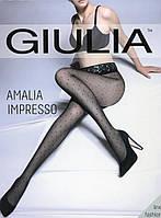 Классические колготки в горошек с кружевным поямом на силиконе AMALIA IMPRESSO 40 den