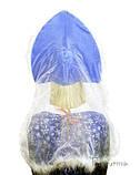 Женский Кокошник велюр Гжель (пух), фото 2