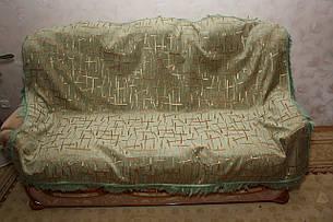 Брызги шампанского комплекты дивандеков на большую кровать и два кресла (зеленый), фото 2