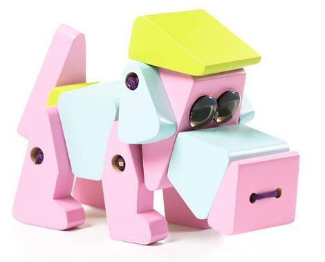 Собака деревянная Акробат Cubika