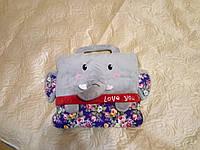 Детский плед-игрушка-подушка (сумочка)