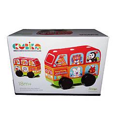 Машина Cubika Автобус Веселые зверята, LEVENYA