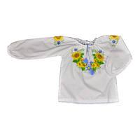 Вышиванка в национальных цветах для девочки, ТМ Valeri