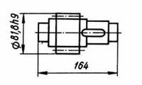 03-04-40М  Вал-шестерня КШП-3М (погрузчик Р6-КШП-6) z=14, m=5