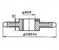 01-07-05Р Звездочка КШП-3М (погрузчик Р6-КШП-6) z=20, t=38.1