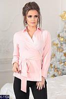 Женская блузка  с поясом