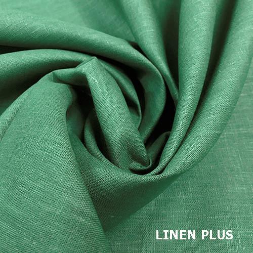 Бледная зеленая льняная ткань 100% лен, цвет 721