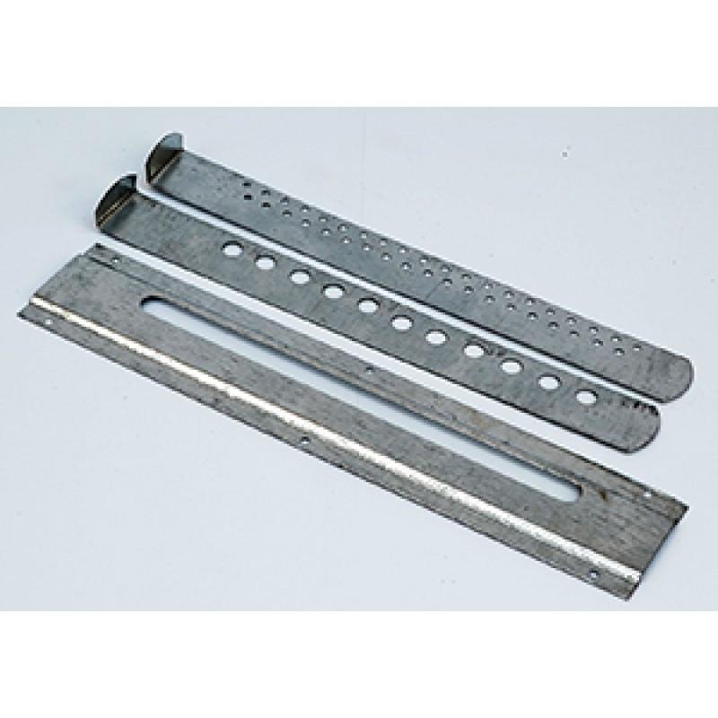 Летковый заградитель металлический 3-х элементный нижний (оц.) 250х50 мм