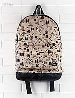 Рюкзак (с отделением для ноутбука 17″) Staff - Print 27 L Art. CBS0014 (бежевый | чёрный)