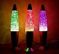 Лава лампа с блестками 48см