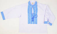 Национальная одежда - Вышиванка нежно-голубая Piccolo