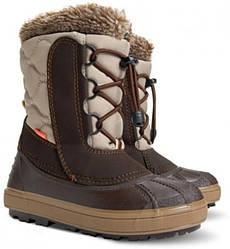 Зимние сапоги дутики Demar BETINA коричневые