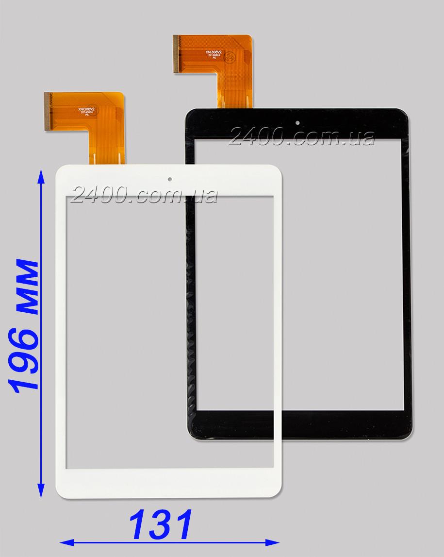 Сенсор, тачскрин планшета Nomi C07850 (черный/ белый) 45pin E-C8037-02 аналог XN1308V2