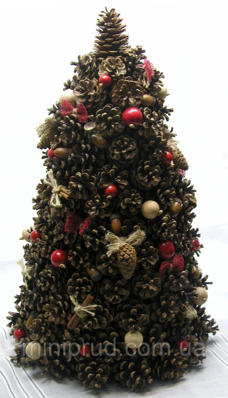 Новогодний, рождественский декор «Елка из шишек в экостиле»