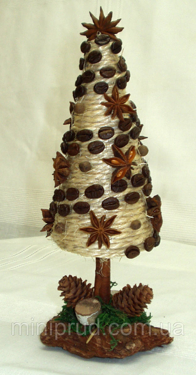 Новогодний, рождественский декор «Ель «Стиль кофе» (23 см)
