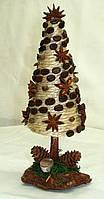 Новогодний, рождественский декор «Ель «Стиль кофе» (23 см), фото 1