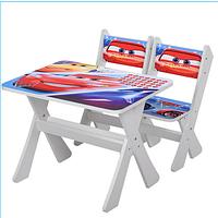 """Столик и два стульчика деревянные """"Тачки"""" М 2100-05 ***"""