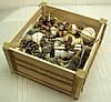 Новогодний набор игрушек «Прованс» в экостиле (16 предметов+ящик)