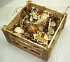 Новогодний набор игрушек «Из леса» в Экостиле (16 предметов+ящик)