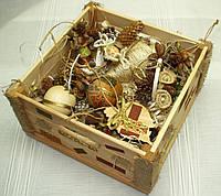 Новогодний набор игрушек «Из леса» в Экостиле (14 предметов+ящик), фото 1
