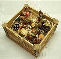 Новогодний набор игрушек «Санта» в Экостиле (10 игрушек+ящик), фото 1