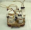 Новогодний набор игрушек «Семейство гномов» в стиле Винтаж (7 игрушек+подставка)