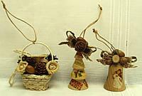 Новогодний набор игрушек «Из леса» в Экостиле (7 игрушек), фото 1