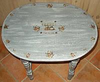 Кофейный столик из дерева в стиле Прованс, фото 1