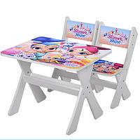 """Столик и два стульчика деревянные """"Shimmer and Shine"""" М 2100-04 ***"""