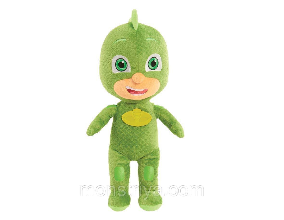Мягкая говорящая игрушка Гекко Герои в масках / PJ Masks 36 см