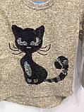Реглан для дівчинки з кішкою 110 см, фото 4