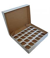 Коробка для капкейков, кексов и маффинов 24 шт 475х321х90 мм.