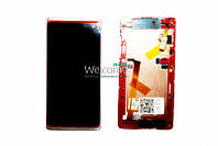 Дисплей HTC Desire 600 Dual sim,Desire 606w with touchscreen and frame white orig