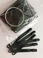 Дисплей черных типс 50 шт на кольце 10 см
