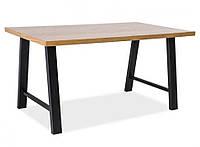 Стол деревянный Abramo черный/дуб (Signal TM)