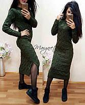 Стильное вязанное платье, фото 2