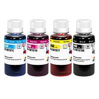 Комплект чернил ColorWay Epson L100/L200, 4x100 мл + Чернила CW-CW520BK01 в подарок ! (CW-EW101SET01/EW101BK01), краска для принтера эпсон