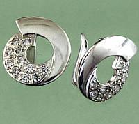 Срібні сережки з цирконом