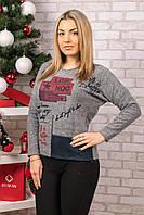 Женский теплый свитер. RBOSSI F28. Размер 44-46.