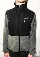 Спортивная кофта р. М 48-50 серая черная мужская на молнии без капюшона весенняя