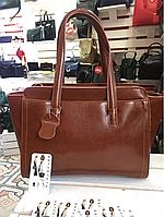 Женская сумка саквояж кожа