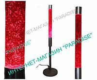Лава-лампа напольная 140см Розовая/Блёстки (Глиттер)