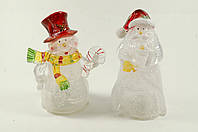 "Новогодняя светящаяся фигурка ""Дед Мороз"", ""Снеговик"" 12 см"