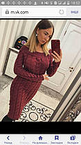 Красивое вязанное платье, фото 2